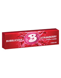 Bubblicious Strawberry Bubblegum 5 Pieces