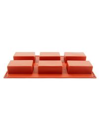 Rectangle Bar Silicone Mould 81x45x30mm