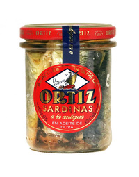 Ortiz Sardines in Olive Oil Old Style Jar 190gm